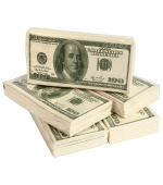 5 csomag 100 dolláros zsepi
