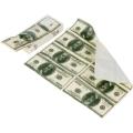 100 dolláros papírzsebkendő hátoldala