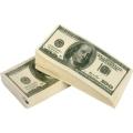 Két csomag 100 dolláros papírzsebkendő