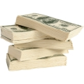 Öt csomag 100 dolláros zsepi